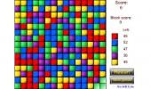 لعبة هدم المكعبات الملونة