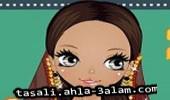 لعبة مكياج الجمال الهندي