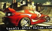 لعبة سباق السيارة الحمراء