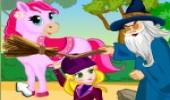 لعبة بزل الاميرة والحصان